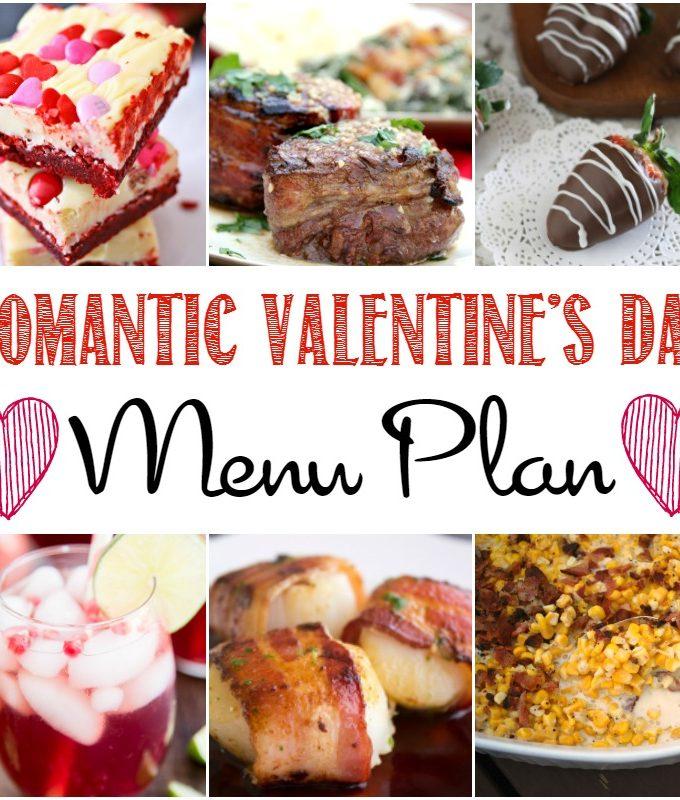 Romantic Valentine's Day Menu Plan   cookingwithcurls.com