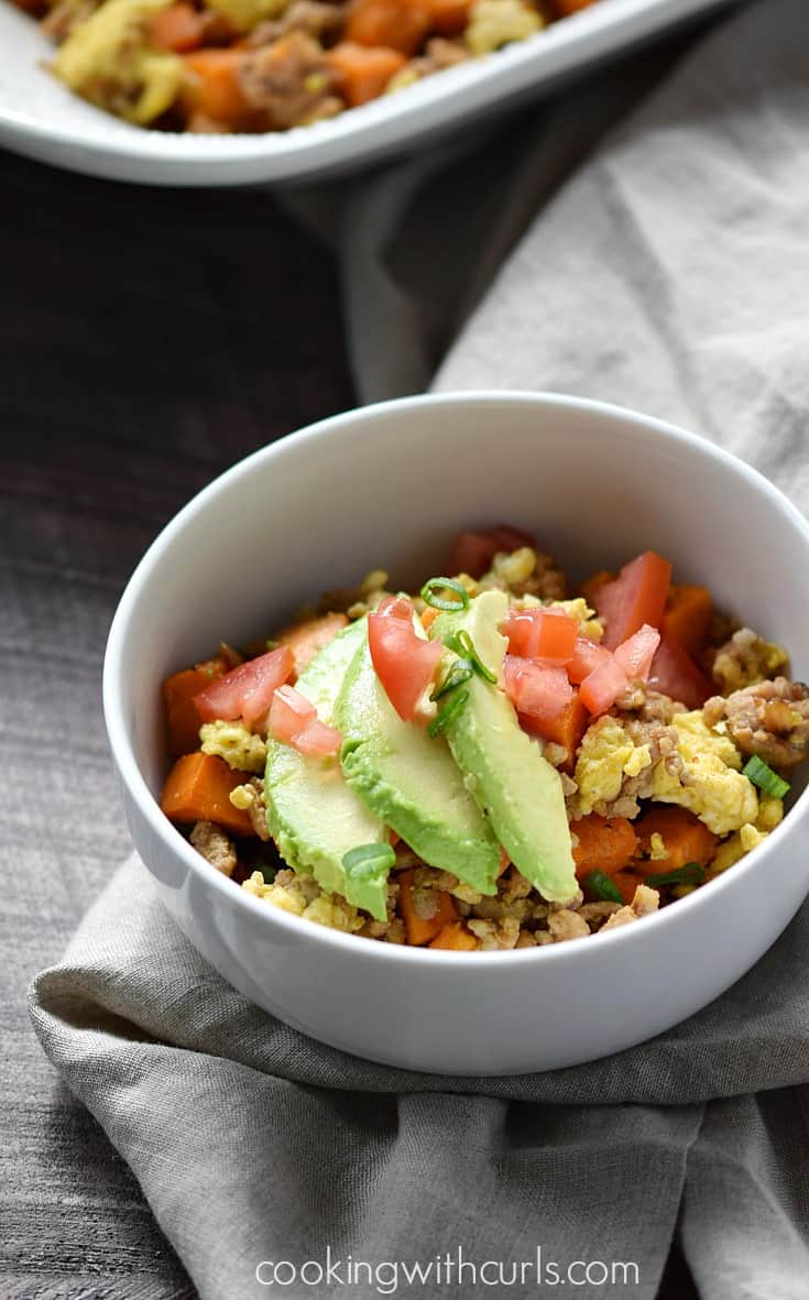 This Sweet Potato Hash is a versatile and delicious way to create a meal when you don't feel like cooking | cookingwithcurls.com