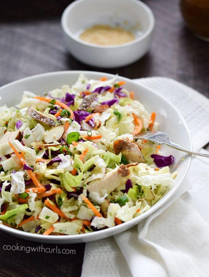 Asian Sesame Chicken Salad | cookingwithcurls.com