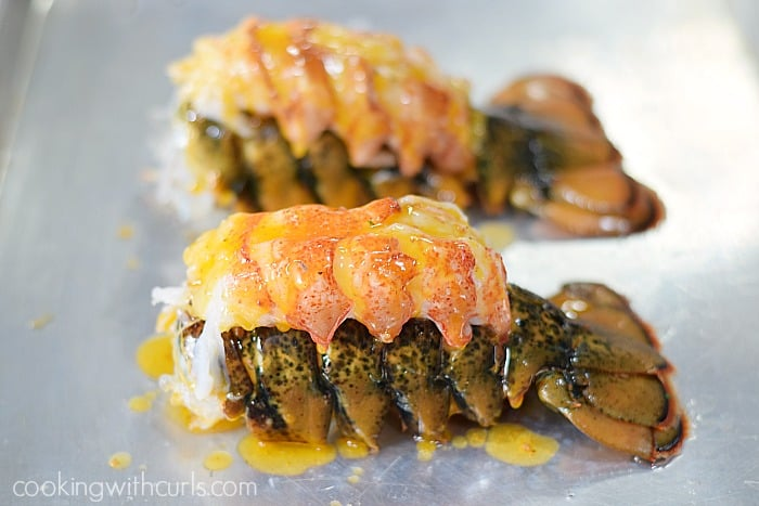 Broiled Lobster Tails butter cookingwithcurls.com