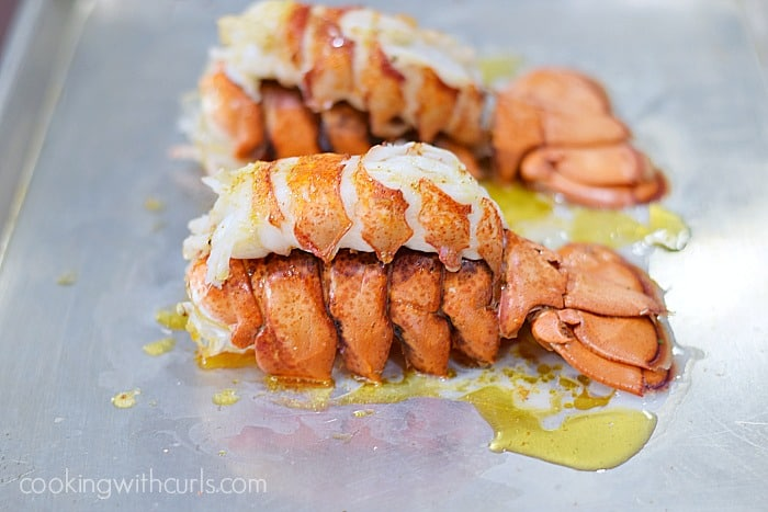 Broiled Lobster Tails done cookingwithcurls.com