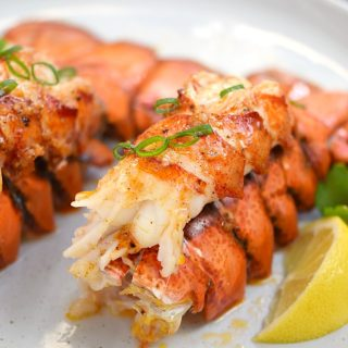 Make date night extra special with Broiled Lobster Tails. They're ready in minutes and truly decadent | cookingwithcurls.com