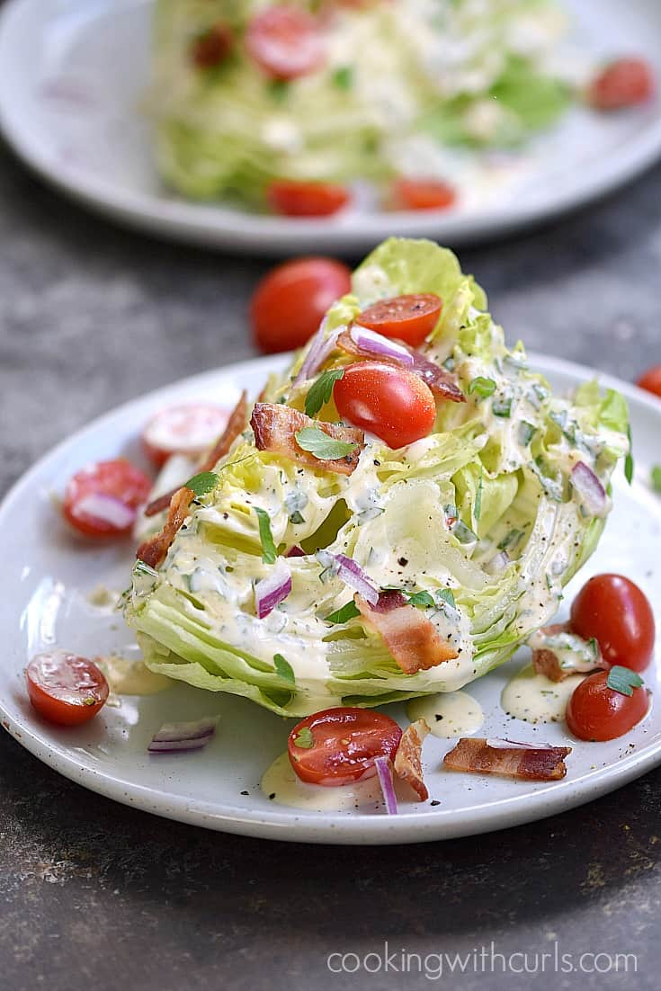 Special Occasions call for a special Whole 30 Wedge Salad with Homemade Ranch Dressing | cookingwithcurls.com
