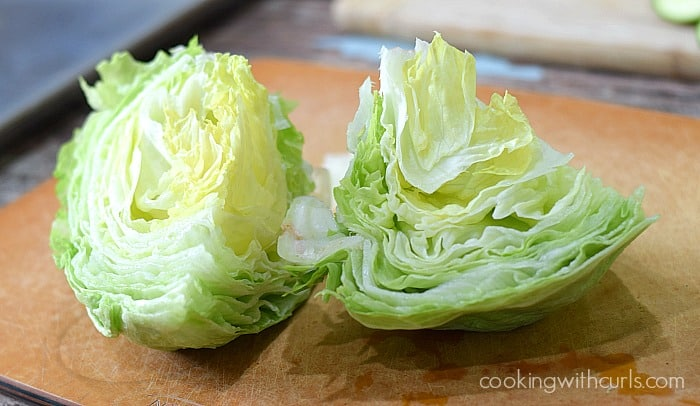 Whole 30 Wedge Salad quarter cookingwithcurls.com