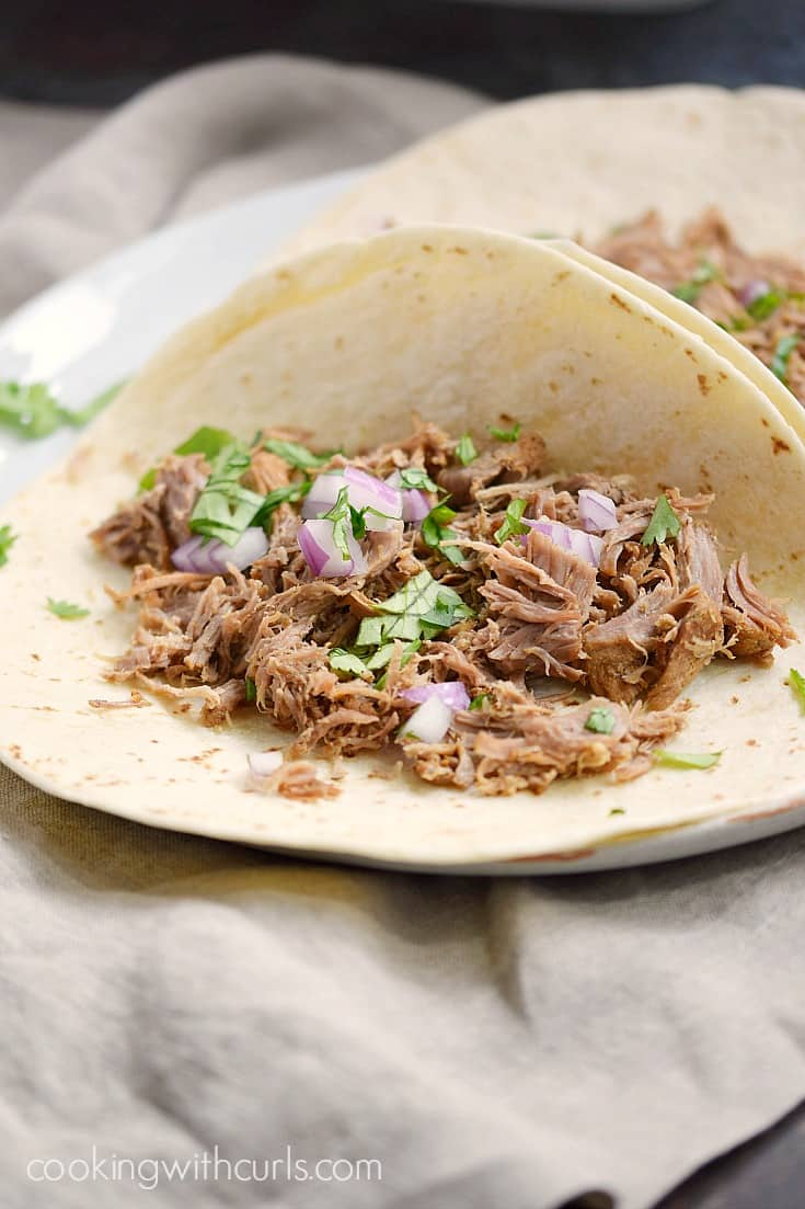 You need to make these quick and easy Instant Pot Pork Carnitas for dinner tonight, trust me | cookingwithcurls.com