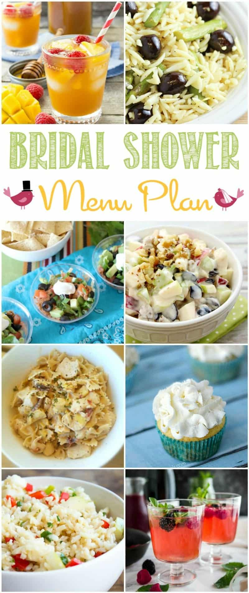 There is no need to stress out before your wedding, your favorite bloggers have everything you need to plan the perfect Bridal Shower Menu   cookingwithcurls.com
