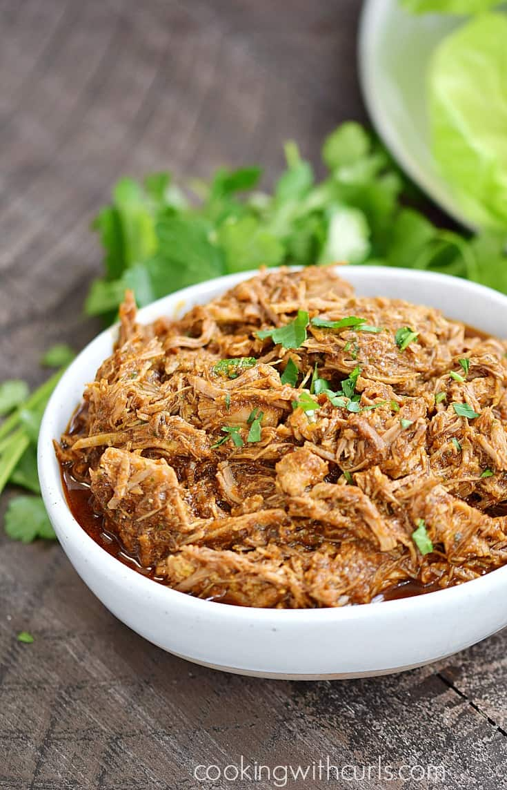 Instant Pot Ancho-Orange Pulled Pork | cookingwithcurls.com