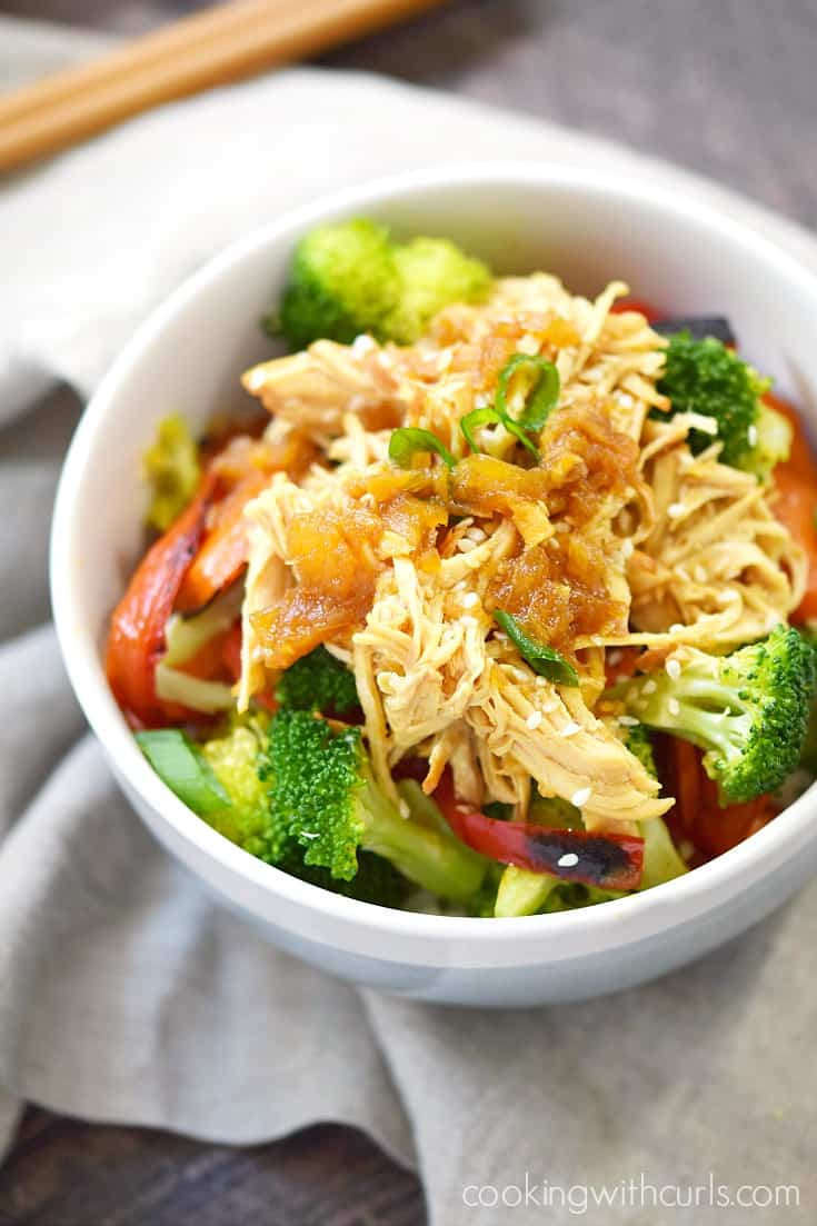 Instant pot teriyaki chicken cooking with curls instant pot teriyaki chicken served over rice and sauteed vegetables cookingwithcurls forumfinder Images