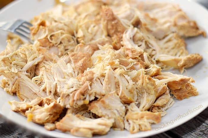 Instant Pot Teriyaki Chicken shred cookingwithcurls.com