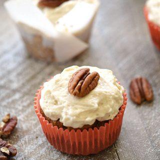 Paleo Maple Carrot Cupcakes