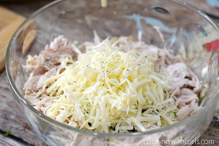 Simple Chicken Enchiladas Verdes mix cookingwithcurls.com