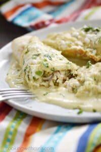 Simple Chicken Enchiladas Verdes