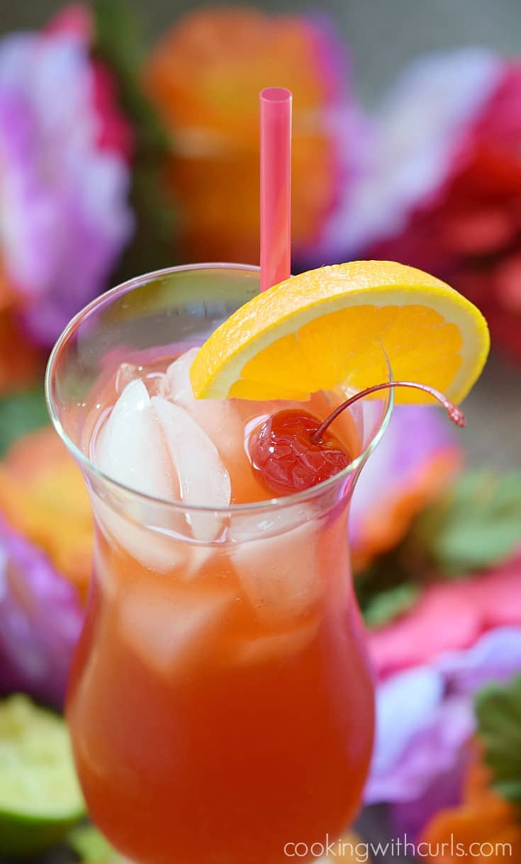 This Hurricane Cocktail packs a punch that is hidden behind it's fruity flavors | cookingwithcurls.com