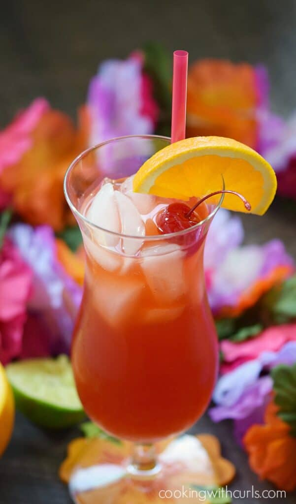 This Hurricane Cocktail seems tame at first, then turns into a full-blown Category 5 if you let your guard down | cookingwithcurls.com