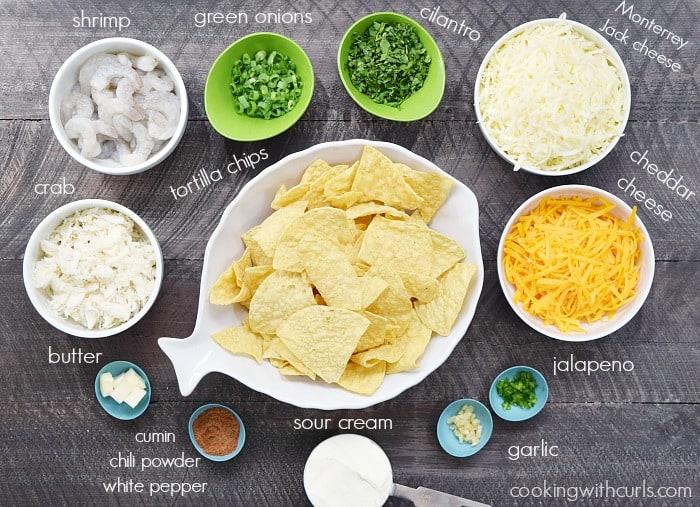 Creamy Seafood Nachos ingredients | cookingwithcurls.com