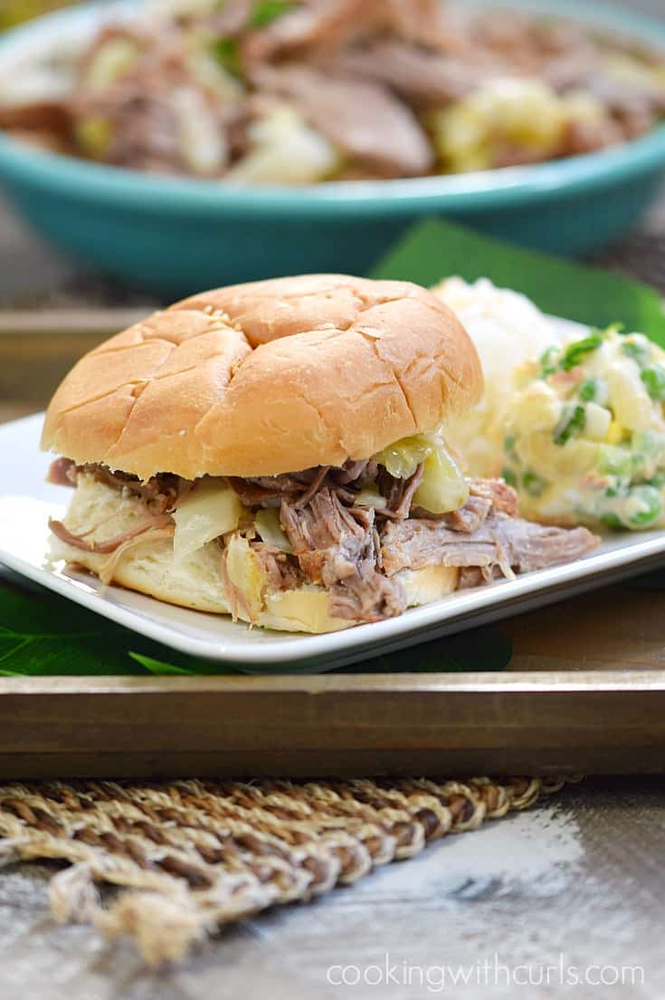 Instant Pot Kalua Pork Sandwich | cookingwithcurls.com