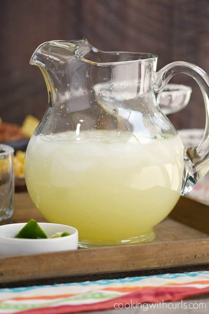 It is not a fiesta without a Pitcher of Margaritas | cookingwithcurls.com