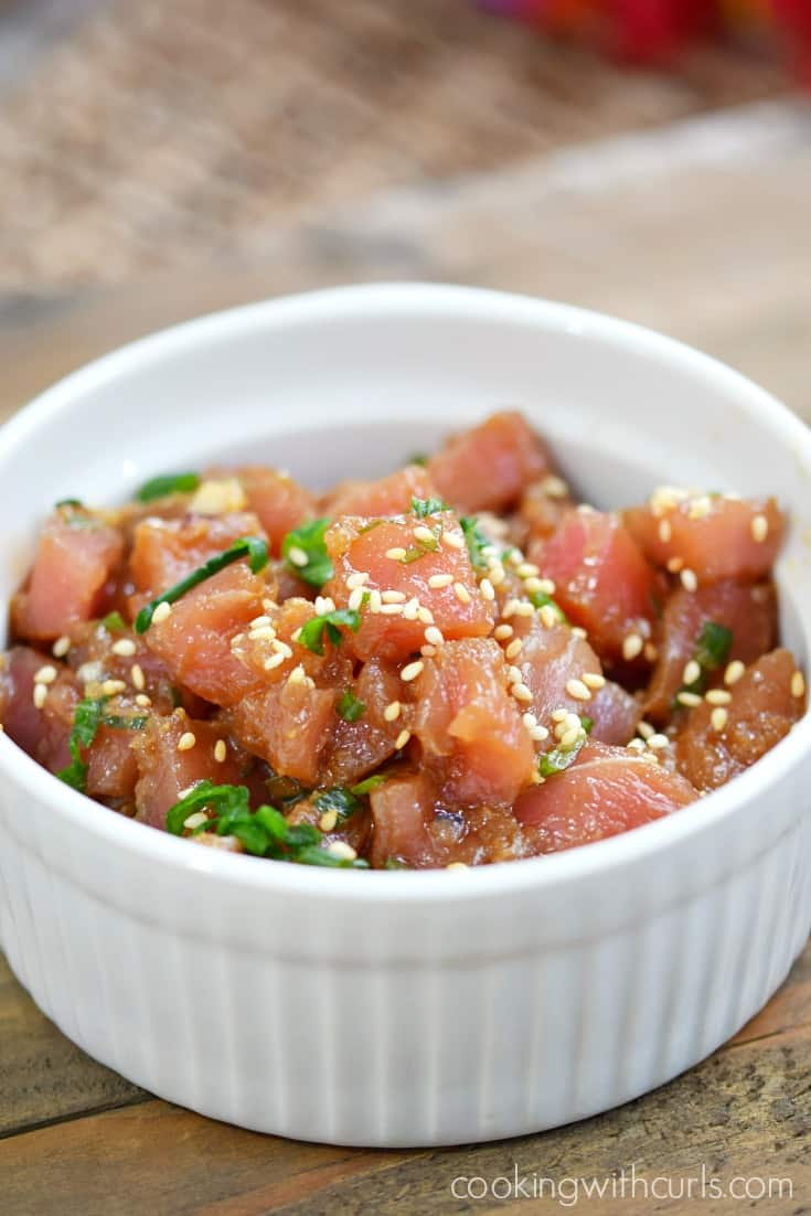 No Pu pu platter is complete without Ahi Poke   cookingwithcurls.com