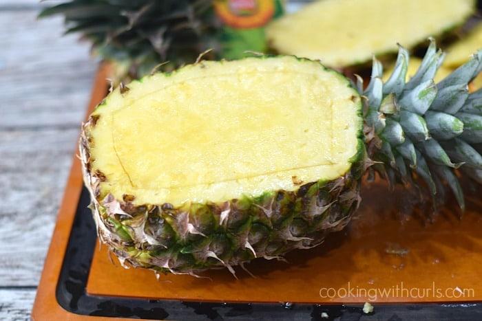 Pineapple Daiquiri Sorbet boat cookingwithcurls.com