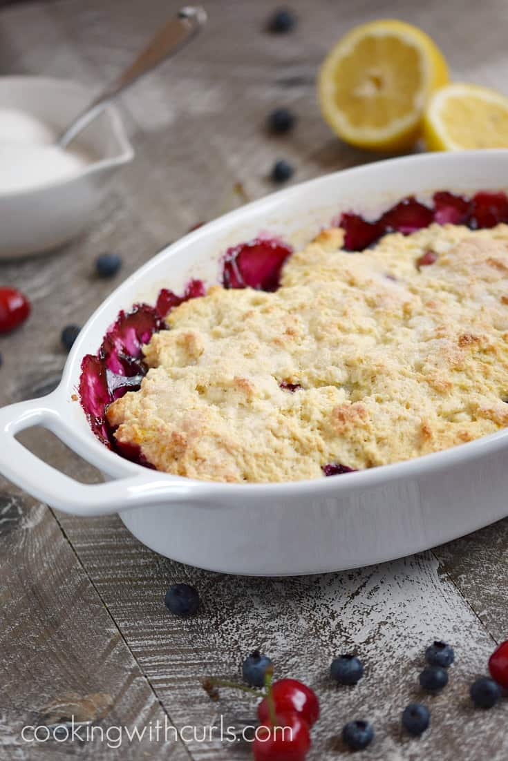 Celebrate summer with this delicious Very Berry Cobbler | cookingwithcurls.com