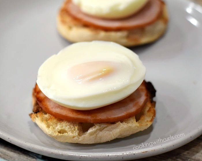 Classic Eggs Benedict stack cookingwithcurls.com
