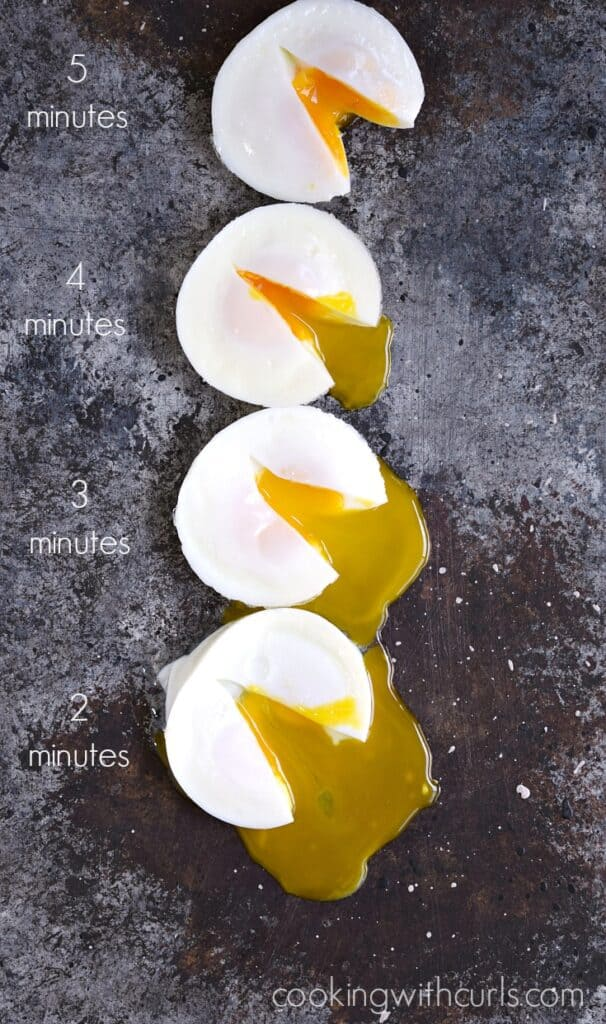 Instant Yes Button : Instant pot poached eggs cooking with curls