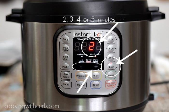 Instant Pot Poached Eggs timer cookingwithcurls.com