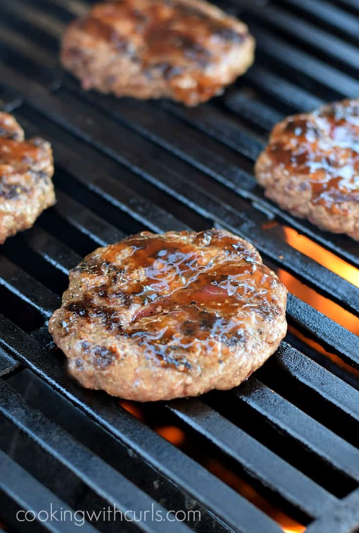 Perfectly grilled Cowboy Burgers cookingwithcurls.com