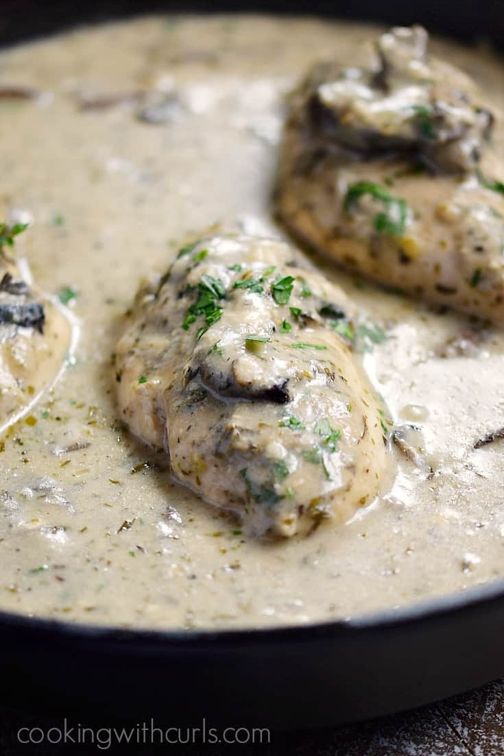 This Creamy Mushroom Chicken is fancy enough for company, and easy enough for weeknights   cookingwithcurls.com