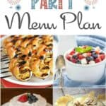 Show your patriotic pride and delight your guests with delicious recipes in this 4th of July Party Menu Plan | cookingwithcurls.com