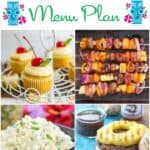 If you can't go to Hawaii, then you need to throw your own party at home! We have everything you need to get started in our Backyard Luau Menu Plan | cookingwithcurls.com