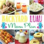 Backyard Luau Menu