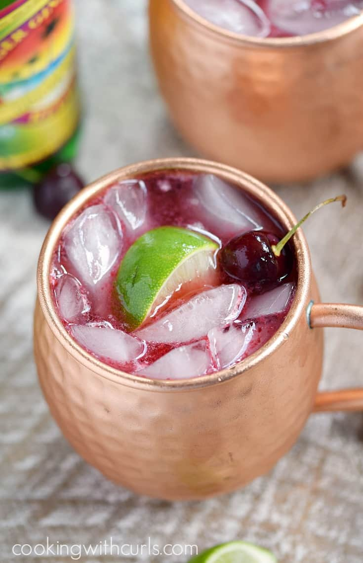 Cherry Moscow Mule | cookingwithcurls.com