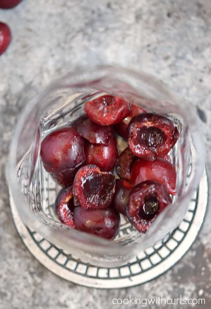 Cherry Whiskey Smash cherries cookingwithcurls.com