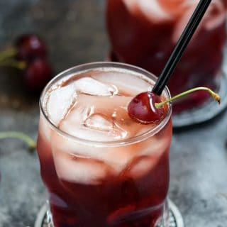 Cherry Whiskey Smash | cookingwithcurls.com