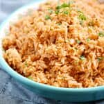 Give this super easy to prepare Instant Pot Spanish Rice a try on your next Taco Tuesday | cookingwithcurls.com