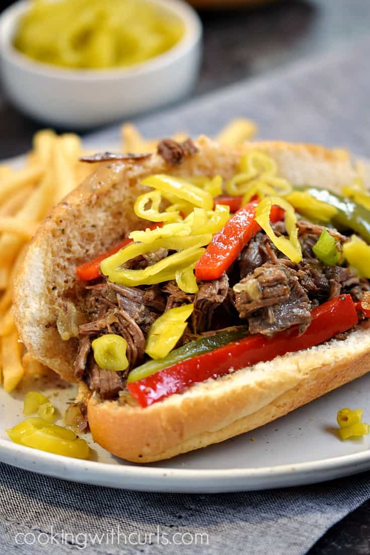 Instant Pot Italian Beef Sandwiches | cookingwithcurls.com