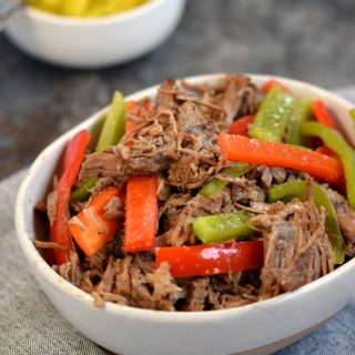 Instant Pot Italian Beef has all the flavors of the original while being paleo and whole 30 compliant | cookingwithcurls.com