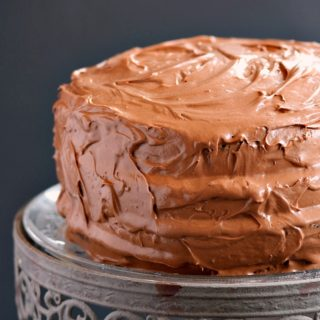 Old-Fashioned Chocolate Fudge Cake | cookingwithcurls.com