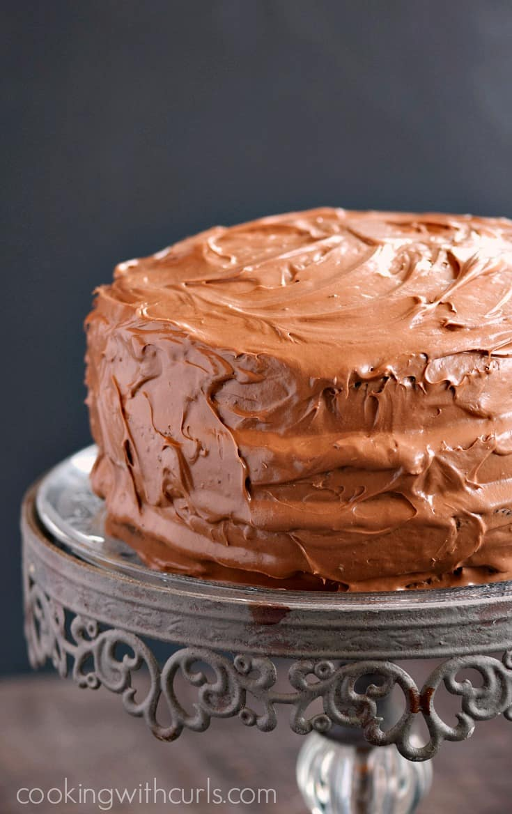 Old Fashioned Chocolate Fudge Cake Cooking With Curls