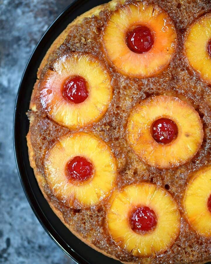 Skillet Pineapple Upside-Down Cake | cookingwithcurls.com