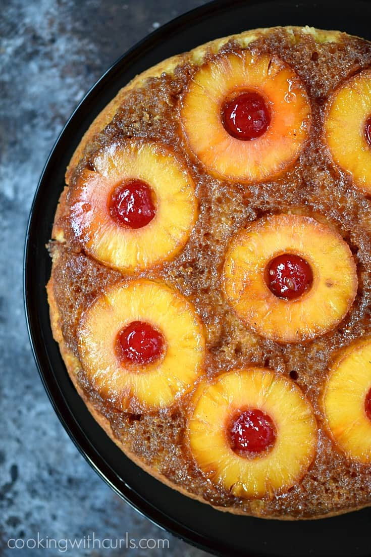 Butter Rum Pineapple Upside Down Cake
