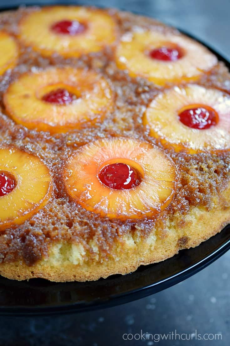 Your next luau will not be complete without this delicious Skillet Pineapple Upside-Down Cake | cookingwithcurls.com
