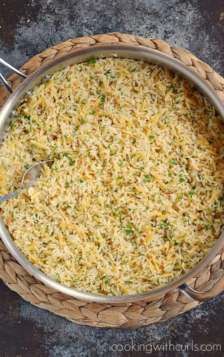 Classic Rice Pilaf, the perfect side dish | cookingwithcurls.com