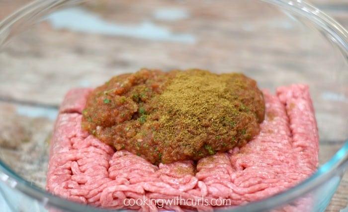 Tex-Mex Burgers mix cookingwithcurls.com