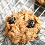 Blueberry Breakfast Cookies on a wire rack.