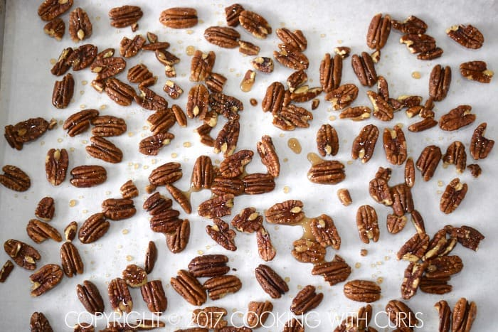Maple-Glazed Pecans recipe bake COPYRIGHT © 2017 COOKING WITH CURLS