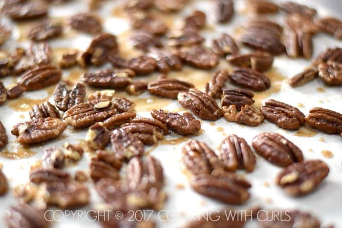 Maple-Glazed Pecans recipe hot COPYRIGHT © 2017 COOKING WITH CURLS