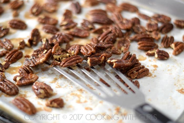 Maple-Glazed Pecans recipe scrape COPYRIGHT © 2017 COOKING WITH CURLS