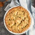 This Bourbon-Pear Pie is sure to impress your friends and family with it's glistening leaf cut-out crust | COPYRIGHT © 2017 COOKING WITH CURLS
